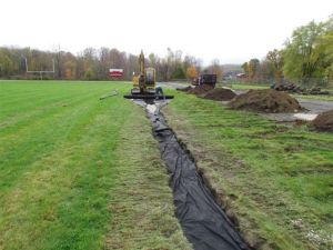 New drainage at the football field